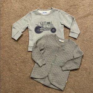 Set of 2, Jacadi sweatshirt & Joha sweater , 3T